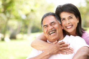 Couple with dentures looking great