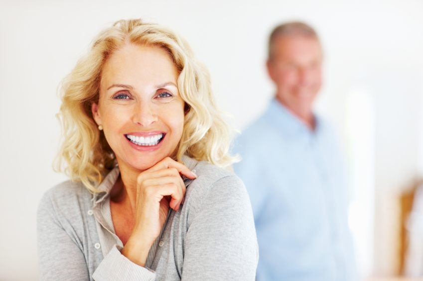 Couple with dental implants in Fort Lauderdale